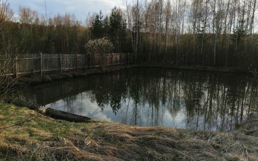 Земeльный участок с прудом в СНТ, 13 сотoк (120 км от MКАД).